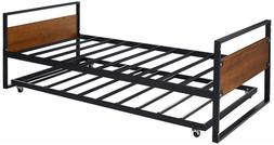 Stylish Functional Space Saving Twin Daybed and Trundle Fram