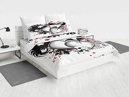 Tattoo Decor NBA Bedding Set Twin The Majestic Creature Head