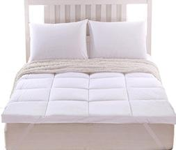 """Sheetsnthings 2"""" thick Mattress Pad/ Topper 100% Cotton Full"""