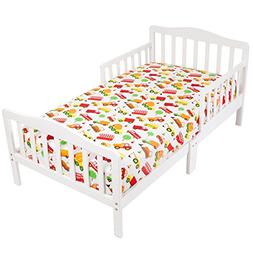 Mellanni Toddler 3 Piece Set Cars - Includes Fitted Sheet, 2
