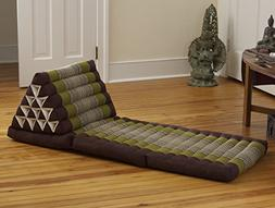 Triangle Lounger, Sage / Brown