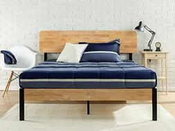 Zinus Olivia Metal and Wood Platform Bed with Wood Slat Supp