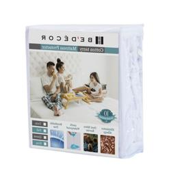 Bedecor Queen Size Waterproof Mattress Protector - Breathabl