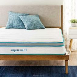 LINENSPA 8-inch Twin Memory Foam and Spring Mattress>