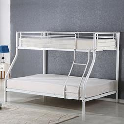 Costzon Twin Over Full Metal Bed, Metal Bunk Bed Frame with