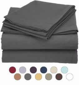 Twin Size Microfiber 3 Piece Bed Sheet Set - Fits Deep Pocke