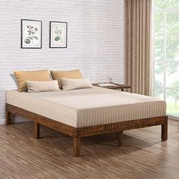 Olee Sleep VC14SF01Q 14 inch Solid Wood Platform Bed/Natural