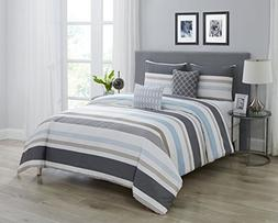 Wonder Home 5-pc. Cotton Shell Striped Comforter Set, Oversi