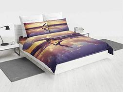 Yoga Queen Bedding Sets Clearance Woman Practicing Yoga on B
