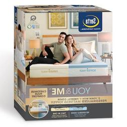 Serta You & Me Personalized 3-inch Foam Mattress Topper NEW
